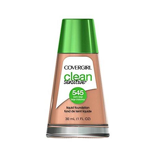COVERGIRL Clean Sensitive Skin Foundation Warm Beige - 545 (2 Pack)