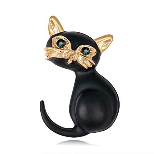 Redriver Cat Fashion Brooch Collar Pins, Corsage Badge Accessories for Halloween Party Clothes Decoration (1 Pc) -