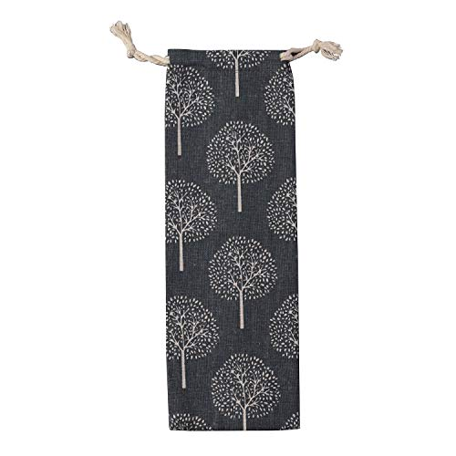 Straw Carrying Case, Travel Bag for Stainless Steel Straws, Glass Straws, Silicone Straws, Cutlery - White Tree