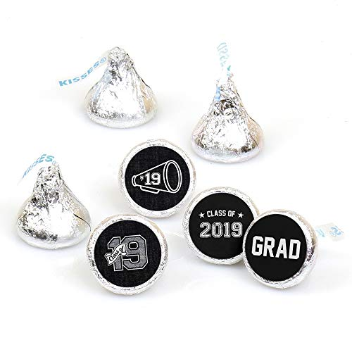All Star Grad - 2019 Graduation Round Candy Sticker Favors - Labels Fit Hershey's Kisses (1 sheet of 108)