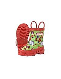 Target Dry Childrens Girls Floral Ladybird Pattern Wellington Boots