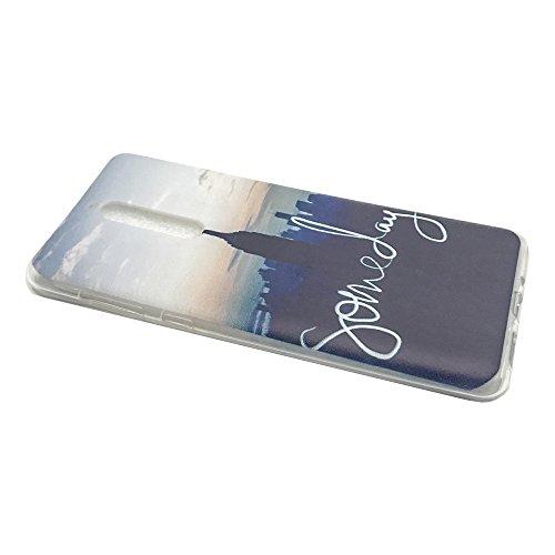 Funda Nokia 8,EUDTH Suave TPU Gel Funda Case Delgado Silicona Fundas Carcasa Espalda para Nokia 8 (5.3 Pulgadas) Auriculares Cat Algún día