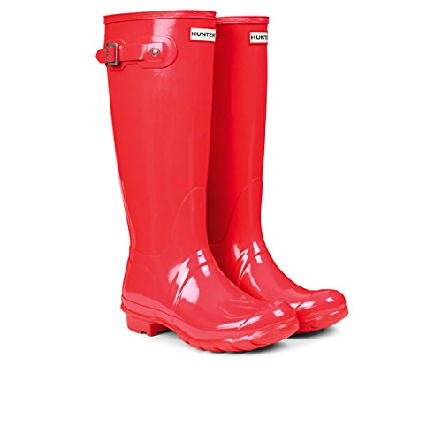 Hunter Original Tall Gloss, Botas de Agua para Mujer Rosa (Coral)