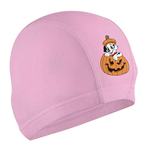 XXOOU Shop Puppy Clipart Halloween Adult Swimming Cap -