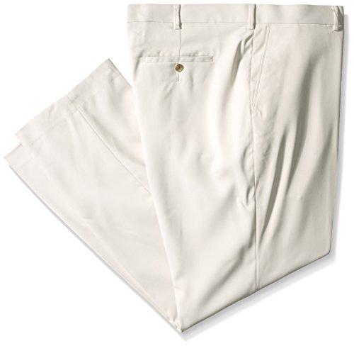 PGA TOUR Men's Comfort Stretch Flat Front Ultimate Pant, Moonstruck, 44/32