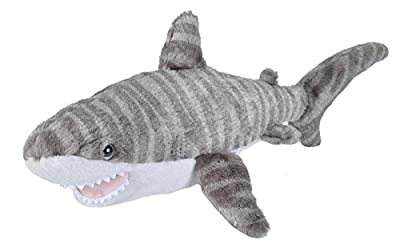 Wild Republic Tiger Shark Plush, Stuffed Animal, Plush Toy, Gifts for Kids, Cuddlekins