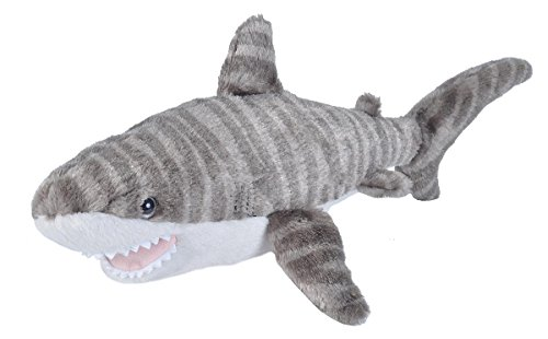 Wild Republic Tiger Shark Plush, Stuffed Animal, Plush Toy, Gifts for Kids, Cuddlekins 13 Inches ()