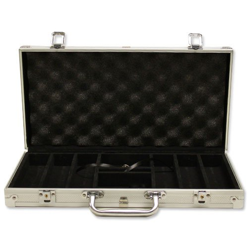 Aluminum Poker chip case - Holds 300 chips, 2 decks of cards and dice (Case 300 Chip Aluminum)