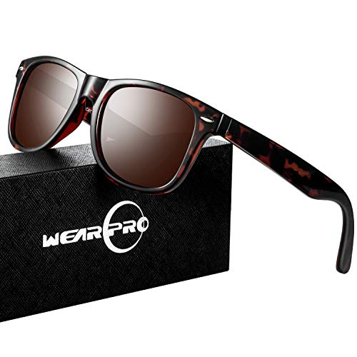Mens Sunglasses for Men Women Vintage Polarized Glasses WP1001(leopard/brown)
