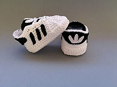 Crochet Pattern Baby Adidas Superstar, baby sneakers, baby shower, booties, shoes (Italian Edition) - Italian Air