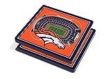 YouTheFan NFL 3D Team StadiumViews 4x4 Coasters