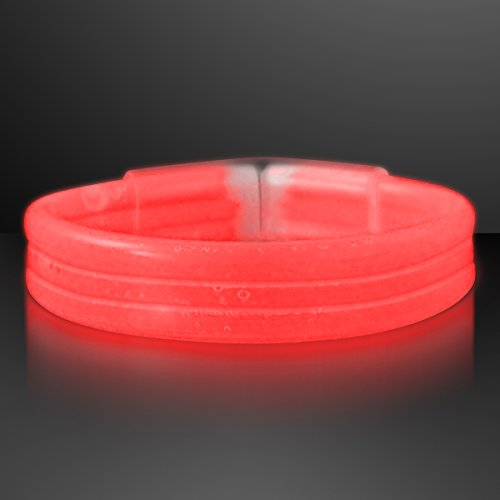 Thick Red Glow Bracelet Bangles (Tube of 30)