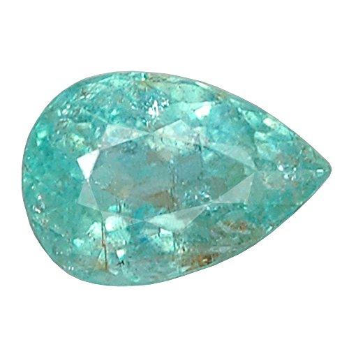 Ploythai 1.01CT Certified AA PEAR Greenish Blue Copper Bearing PARAIBA Tourmaline