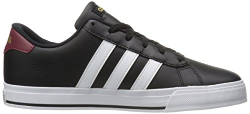 adidas Rendimiento Hombres del Diario Fashion Sneaker Negro/blanco/dorado mate