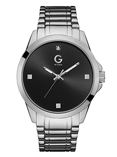 G-by-GUESS-Mens-Silver-Tone-and-Black-Crystal-Watch