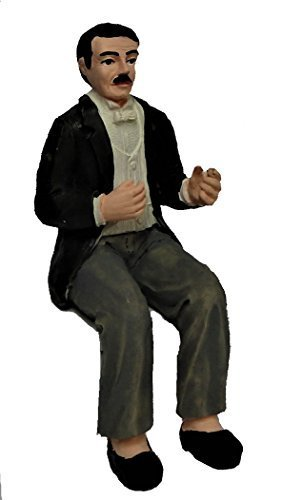 Melody Jane Dollhouse Gentleman in Evening Suit Sitting People Resin Figure