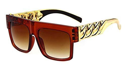 E Gafas de Marca Dorado Hombre Gafas de Gafas Hombre Marco Cristal Sol diseñador KOMNY Moda Steampunk B de Gran Gafas Sol Vintage de Hombres Sol Rqgz1Y6