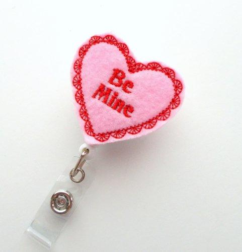 Be Mine - Name Badge Holder - Cute Badge Reel - Nurse Badge Holder - Nursing Badge Clip - Teacher Badge Reel Photo #2