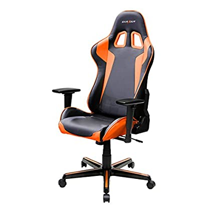 DXRacer FH00/NO Black Orange Racing Bucket Seat Office Chair Gaming  Ergonomic With Lumbar Support