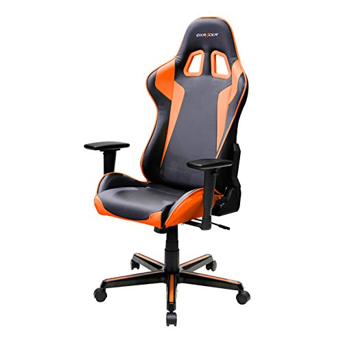 DXRacer FH00/NO Black Orange Racing Bucket Seat Office Chair Gaming Ergonomic with Lumbar Support by DX Racer