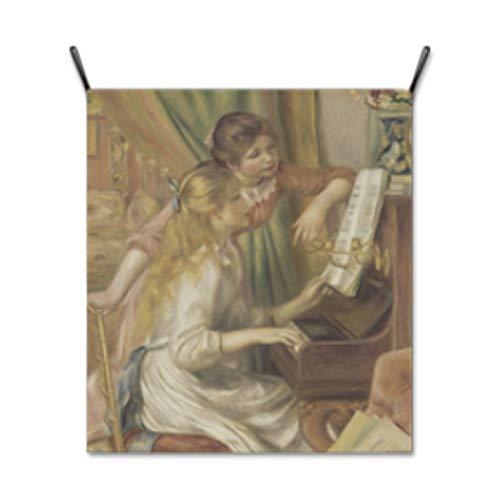 Renoir Jeunes Filles Au Piano - Wall Hanging Fabric Poster Cloth Fine Art Printing Banner Flag Tapestry Wall Decor Painting Masterpiece Artwork - Jeunes Filles Au Piano by Pierre-Auguste Renoir (Medium-23.62