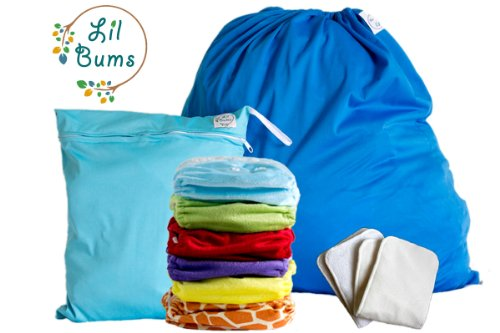 Lil Bums Cloth Diapers Starter Kit 6 Pack