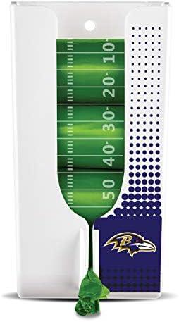 Offizielles Lizenzprodukt, erhältlich in Allen 32 NFL Teams, Haustierkotbeutel, Organizer und Spender mit 4 Rollen von Fußball-Thema, Bio-Basis Haustierkotbeuteln