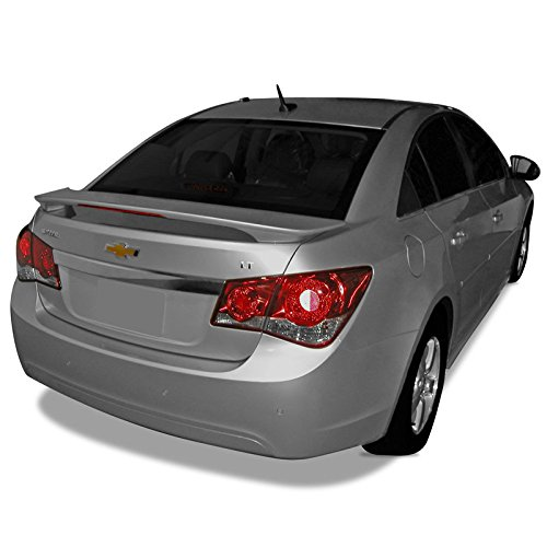 Dawn Enterprises Cruze-PED Lighted Custom Style Pedestal Spoiler Compatible with Chevrolet Cruze - Silver ICE WA636R (GAN)