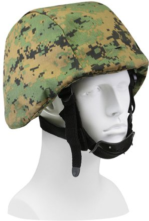 (Woodland Digital Camouflage MARPAT MICH Helmet Cover)