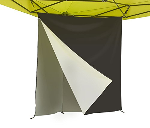 E-Z UP HSTW5BK Hang Space Tri Canopy Wall Divider, 5'x5'x7', Black
