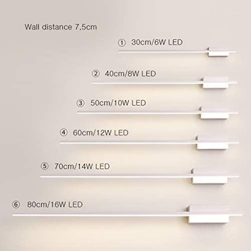 . Espejo moderno moderno Luz delantera Espejo LED Hierro Impermeable Antivaho Armario de baño Lavabo de hotel - 30/40/50/60/70/80 cm (Color : B)