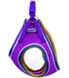 Lil Pals Mesh Comfort Mesh Adjustable Step-in Dog Harness for Puppies and Toy Breeds (Orchid, Petite Small)