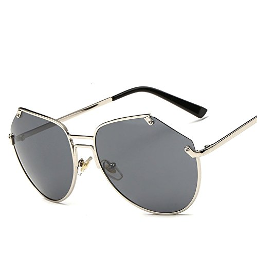 de irregulares gafas sol unisex grande C de sol NIFG Gafas caja qXaxf1w