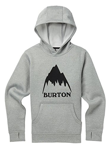 Burton Boys Oak Pullover Hoodie, Monument Heather, X-Small by Burton