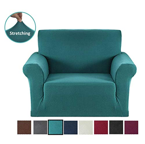Argstar Jacquard Armchair Cover Soft Elastic Cyan (Armchairs Covers)