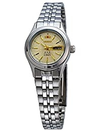 Orient FNQ04005C Women's 3 Star Stainless Steel Gold Dial Automatic Watch