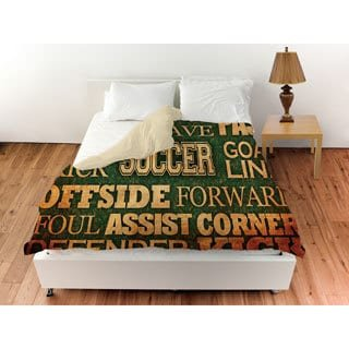 Thumbprintz Soccer Words Duvet Cover King by Thumbprintz