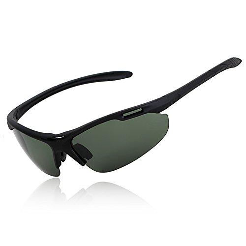 Luz De Hombres Protección Conducción Solar UV Polarizada UVA Verde Medio De 100 Verde Protección Marco Oscuro Gafas Sol Anti Gafas Aire oscuro Libre Clásico Gafas WYYY Color qwYX0Oan
