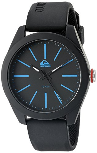 quiksilver-mens-qs-1021blbk-the-young-gun-black-silicone-strap-watch