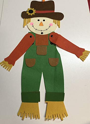 - Fall Autumn Decor Jointed Felt Scarecrow Hanging Decor 20