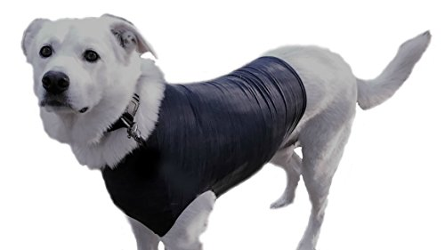 Swaddleshirt Anti Anxiety Vest For Dogs   The Best Weight Vest For Dog Anxiety Relief. Effectively Calm Dogs during Thunderstorms, Fireworks, Travel, And More. (Large, HGrey) by Swaddleshirt