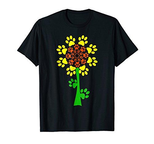Sunflower Dog Paw Tshirt by Sunflower Dog Paw Tshirt