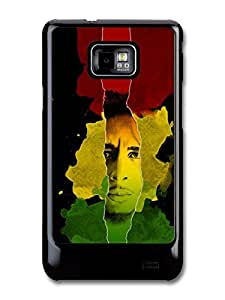 Bob Marley Jamaican Flag Portrait Rasta Reggae case for Samsung Galaxy S2