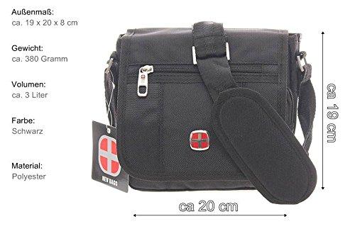 negro New negro para al Bags hombre Bolso hombro OzO7x8q