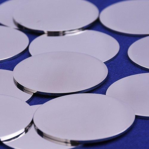 10pcs tibetara Round Stainless Steel Stamping Blank Tags Diy Craft Making Discs (29mm) Steel Disk