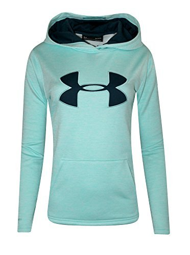Blue Big Logo Hoodie - Under Armour Womens UA Storm Big Logo Hoodie HEATHER Athletic Shirt (L, Blue Infinity)