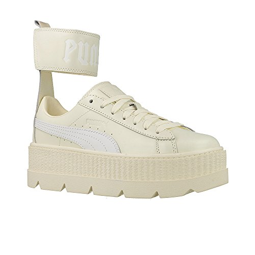Vanilla Puma Fashion Leather White Ankle Women's Fenty Ice Strap Sneaker X high Ankle 4SZq4x