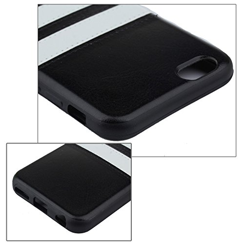 "Apple iPhone 6 4.7"" TPU Case Double Stripe Sport Streifen Cover Hülle Schwarz"