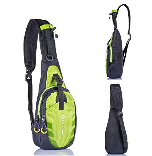 nuovo prodotto b1ddd d6977 Zaino Monospalla - Perfetti per Esterni Trekking Escursionismo Viaggio  Trekking Campeggio Scuola Nylon fabric multicolor - by LC Prime®