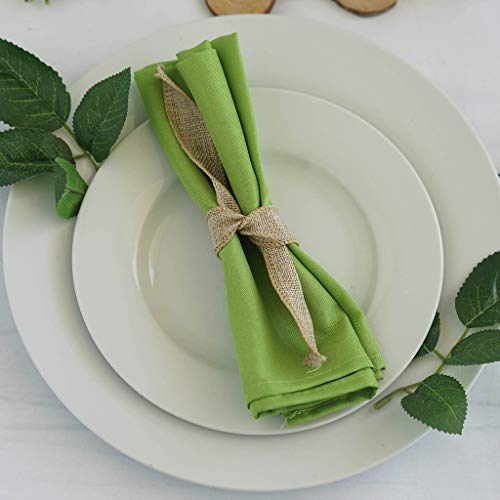Efavormart 20x20 SAGE Green Wholesale Polyester Linen Napkins for Wedding Birthday Party Tableware - 5 PCS